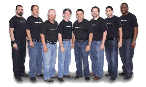 équipe techniciens plombiers chauffagistes bruxelles