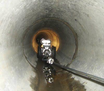 inspection pas caméra de canalisation