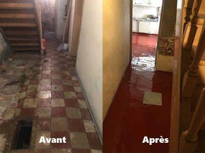 Ouverture de sol et remplacement chambre de visite dans la ville de Bruxelles
